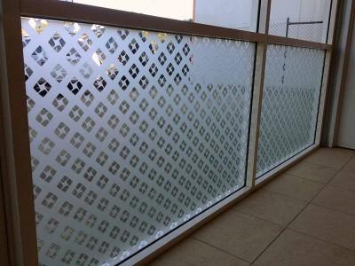 10. Office Window Frosting