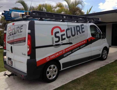 24. secure lock van